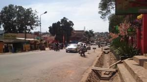Straße in Kampala